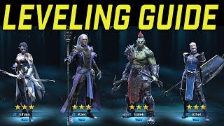 RAID Shadow Legends: BEST LEVELING STRATEGY for Beginners