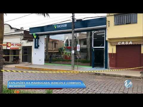 Agências bancárias, Correios e loja são atacados em Botelhos e Juruaia