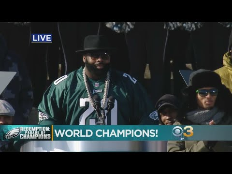 Jason Peters Speaks At Championship Ceremony
