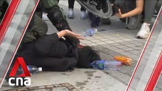 Scuffles break out after Hong Kong protesters rally for China's Uighurs