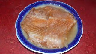Самая вкусная закуска к пиву. Соленые хребты лосося.