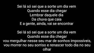 Sei Lá   Projota Ft. VITÃO ( Letra ) Áudio