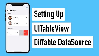 iOS 13 Contacts UITableViewDiffableDataSource Intro (Ep 1)