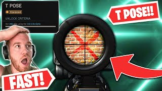 the FASTEST and MOST EFFICIENT WAY to UNLOCK the T POSE RETICLE for WARZONE