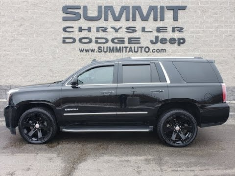 2015 GMC YUKON DENALI BLACK OUT QUADS THIRD WALK AROUND REVIEW SOLD! 9818  www.SUMMITAUTO.com