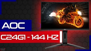 Der BESTE GAMING Monitor - AOC C24G1 - FreeSync - 144HZ - Hardware Check - Curved - 24 Zoll Review
