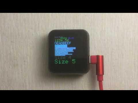 Arduino_GFX TTGO T-Watch 240x240