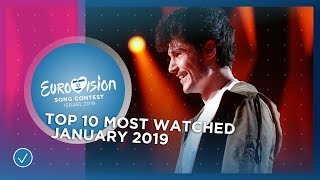 TOP 10: Most watched in January 2019 - Eurovision Song Contest