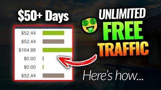 Earn $50+ EVERY Day With Unlimited FREE Traffic | Clickbank Affiliate Marketing For Beginners 2021