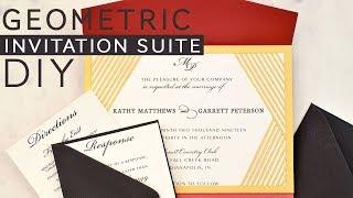 Modern Geometric Laser Invitation Suite