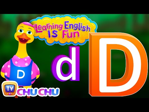 "Learning English Is Fun™ | Alphabet ""D"" | ChuChu TV Preschool English Language Learning For Children"