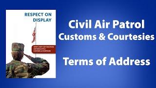 Terms of Address | Civil Air Patrol - CAPP 151