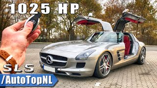 MERCEDES SLS AMG 1025HP SUPERCHARGED Elmerhaus REVIEW POV On AUTOBAHN By AutoTopNL