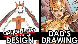 DAUGHTER DESIGN - DAD'S DRAWING! The MERMAID QUEEN!