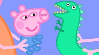 Peppa Pig English Episodes | Baby George and Mr Dinosaur!  Peppa Pig Official