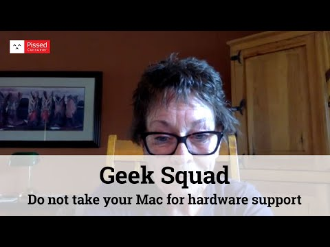 Geek Squad - Do not take your Mac for hardware support