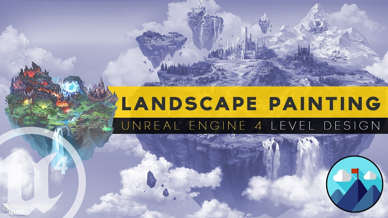 Painting Landscapes & Terrain - #15 Unreal Engine 4 Level Design Tutorial Series