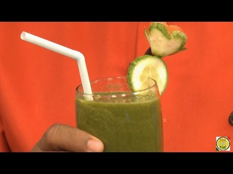 Video Spinach - iron rich Juice for Anemic - By Vahchef @ vahrehvah.com