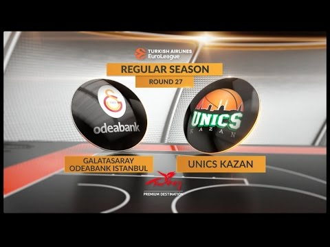 EuroLeague Highlights RS Round 27: Galatasaray Odeabank Istanbul 75-67 Unics Kazan