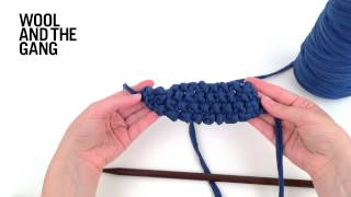 Sewing up a knitted necklace