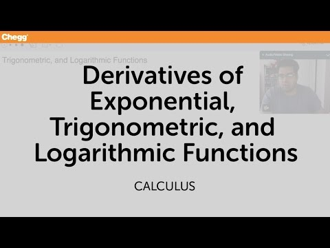 Definition of Derivatives Of Exponential, Trigonometric, And