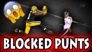 Football Blocked Punts (NFL, NCAA, CFL)