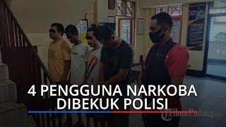 Asyik Pesta Sabu, Empat Lelaki di Seberang Padang Dibekuk Tim Polsek Padang Selatan