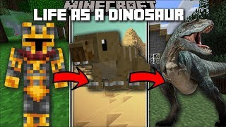 Minecraft LIFE AS A DINOSAUR MOD / MORPH IN TO A DINOSAUR AND EAT FLESH !! Minecraft