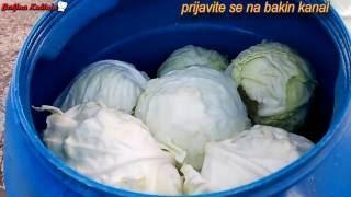 Bakina Kuhinja - Kako Ukiseliti Kupus (how Sour Cabbage)