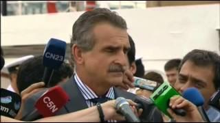 30 De ENE Agustin Rossi Realizó Declaraciones Durante La Orden De Zarpe De La Fragata Libertad