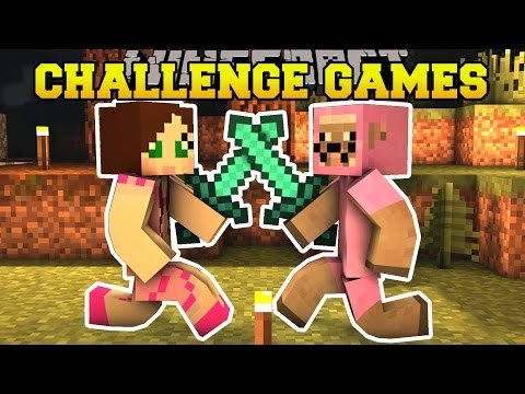 Minecraft: PINK SHEEP VS GAMINGWITHJEN CHALLENGE GAMES - Lucky Block Mod - Modded Mini-Game