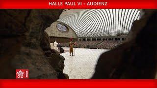 Aula Paul VI. Audienz 12. September 2020