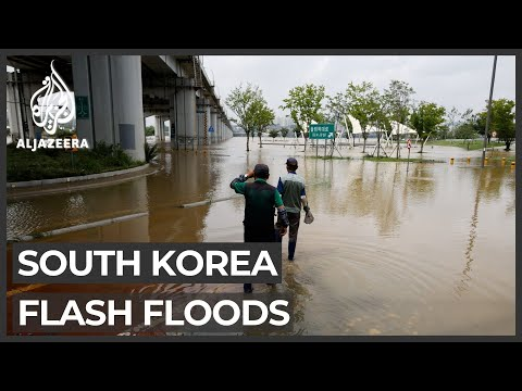 Flash floods, mudslides kill 13 people in South Korea