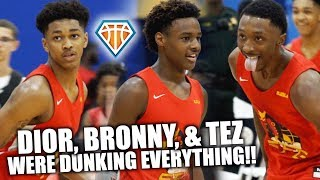 DIOR, BRONNY, TEZ & SKYY Were Dunking EVERYTHING!! | SFG 1-Game DUNK SHOW at Balling on the Beach