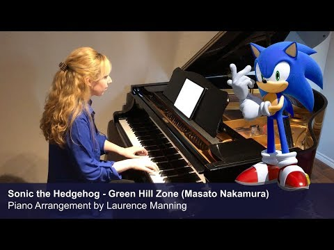 Sonic Green Hill zone played wonderfully on piano