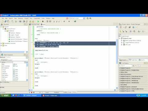 Learning to program Delphi tutorial 2 – Variables – Pascal – Rad Studio XE2