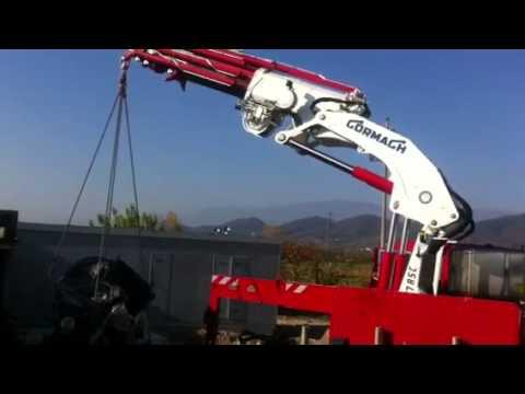 Sollevamento con camion gru di un motore e generatore - Poloniato - Parte 2