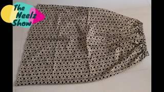 [Hindi] DIY | Maxi Skirt In 5min Perfect Gathered Skirt | The Neelz Show