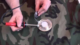 Смотреть онлайн Как сделать печку для обогрева туристической палатки