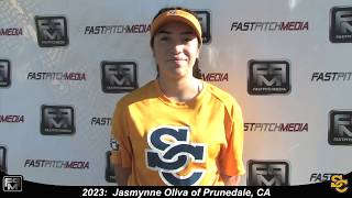 2023 Jasmynne Oliva Second Base and Outfield Softball Skills Video - Ca Suncats
