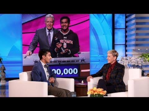 Ellen Meets 'Jeopardy!' Contestant Who Made Alex Trebek Emotional
