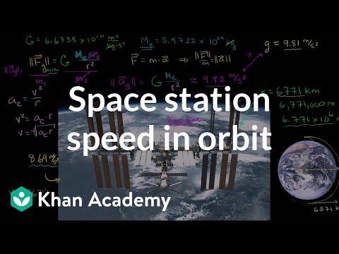 Space station speed in orbit (video) | Khan Academy