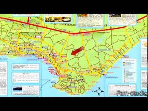 Районы Паттайи, карта, пляжи
