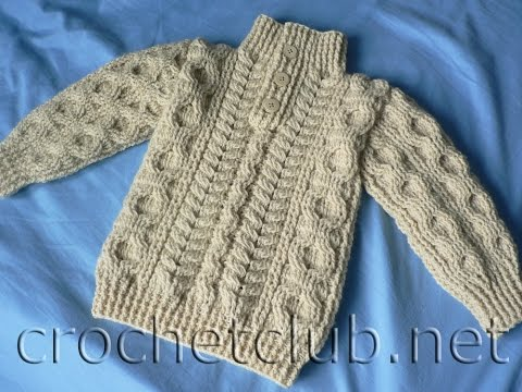 How to crochet: VERY EASY crochet cardigan / sweater ...