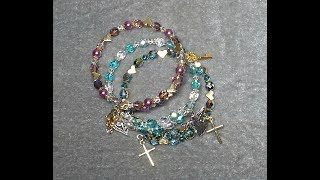 DIY~Make Gorgeous 1 Loop Memory Wire Bracelets For Gifts!