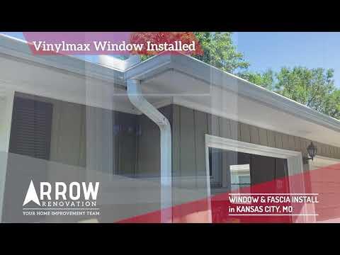 Double Hung Vinylmax Window Install & Fascia Repair in Kansas City, MO