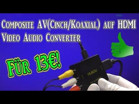 Composite AV(Cinch/Koaxial) auf HDMI Unboxing | Test | HD+ | Deutsch