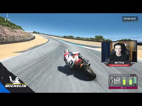 MotoGPバーチャルレース チャレンジ1 ダニ・ペドロサ(ラグナセカ)