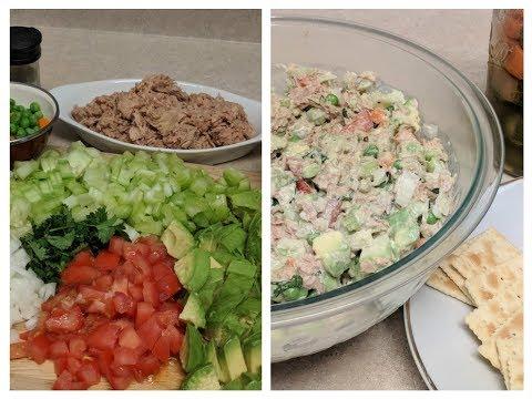 Ensalada de Atún Con Aguacate y verduras