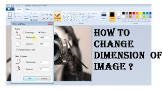 How to change dimension of image